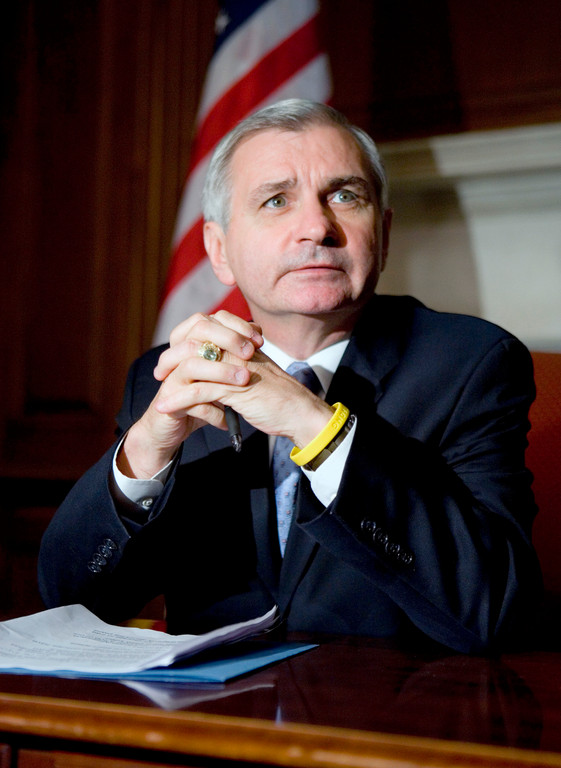 U.S. SEN. JACK REED, D-R.I., announced with other members of the Ocean State's congressional delegation that the Narragansett and West Warwick fire departments will receive a combined $289,720 from federal programs to train personnel and purchase equipment. / BLOOMBERG NEWS FILE PHOTO/JOSHUA ROBERTS