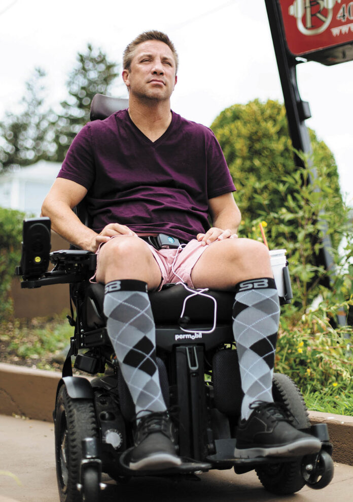 PERFECT VISION: After a backyard accident left him a quadriplegic, former boxer Gary Balletto was determined to help others suffering from paralysis to get healthier and stronger. 