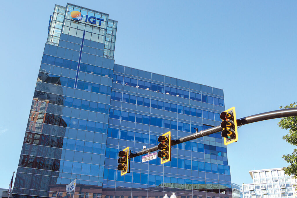 STOP OR GO? Will the public conflict over the proposed IGT deal with the state threaten the company's commitment to stay in Rhode Island, or will it leave town, just like the Pawtucket Red Sox did?  / PBN PHOTO/RUPERT WHITELEY