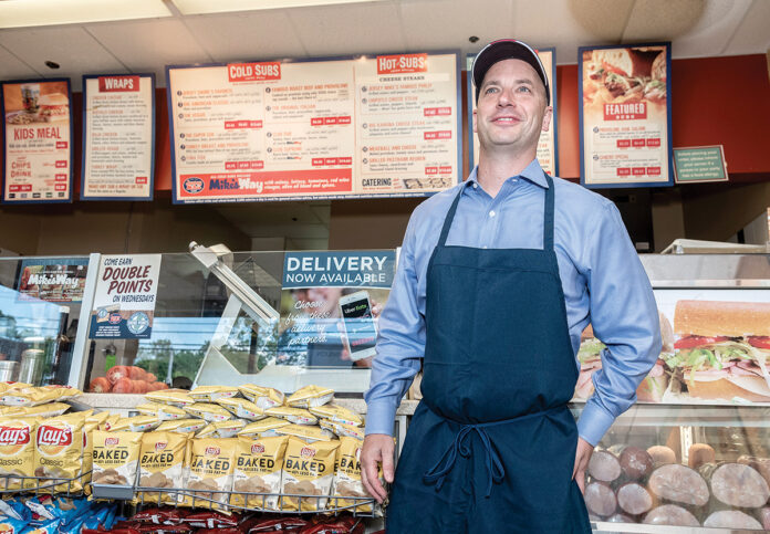 "ENTREPRENEURIAL SPIRIT: Sean Sullivan, franchisee owner of Jersey Mike's Subs, says he always had an ""entrepreneurial spirit"" and wanted to go into business for himself. In 2006, he purchased the North Providence franchise, and subsequently bought franchises in Warwick and Raynham.