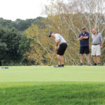 "SUPPORTIVE SWINGS: Golfers play a hole during last year's ""Swing to Support"" charity golf event, held by the Children's Advocacy Center of Bristol County. This year's event will be held Oct. 4 at Ledgemont Country Club in Seekonk.