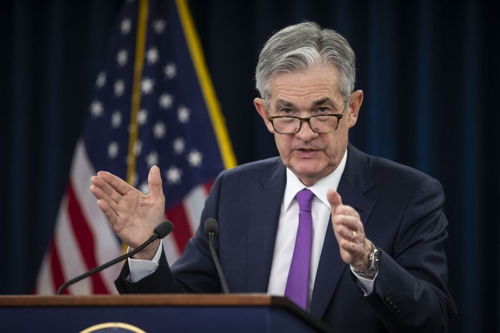 JEROME POWELL was the keynote speaker at the Greater Providence Chamber of Commerce's annual meeting Monday night. / BLOOMBERG FILE PHOTO/AL DRAGO