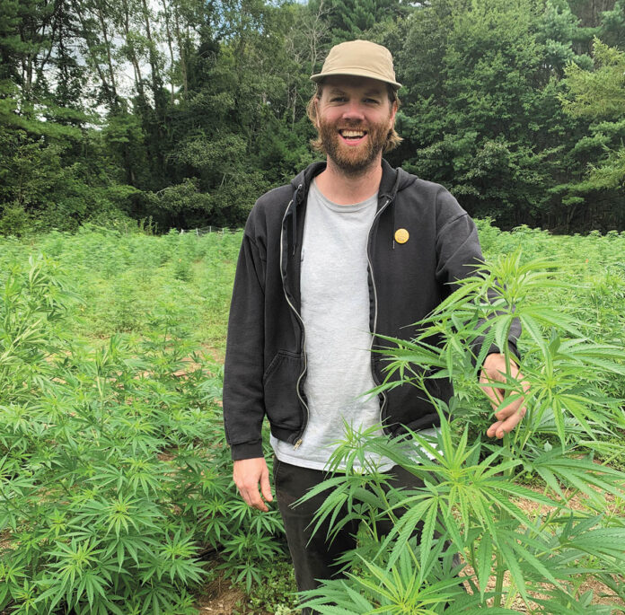 HEMP FARMER: Mike Simpson is a co-founder and the CEO of Lovewell Farms, one of Rhode Island's first industrial hemp farms, with about 4,000 hemp plants growing on slightly less than 2 acres split between fields in Exeter and Richmond.