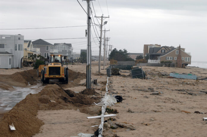 A NEW STUDY concluded that companies unprepared for storm damage, such as that delivered during the 2012 landfall of Sandy in Westerly, lost 5% of their market capitalization over the year after the storm, / PBN FILE PHOTO/BRIAN MCDONALD