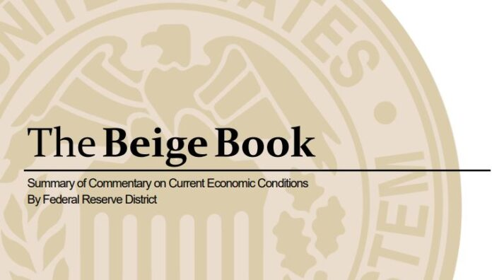 TTHE FEDERAL RESERVE'S Beige Book said that New England's economy expanded at a moderate pace over the course of the summer based on the bank's interviews with businesses across the region as well as economic data.