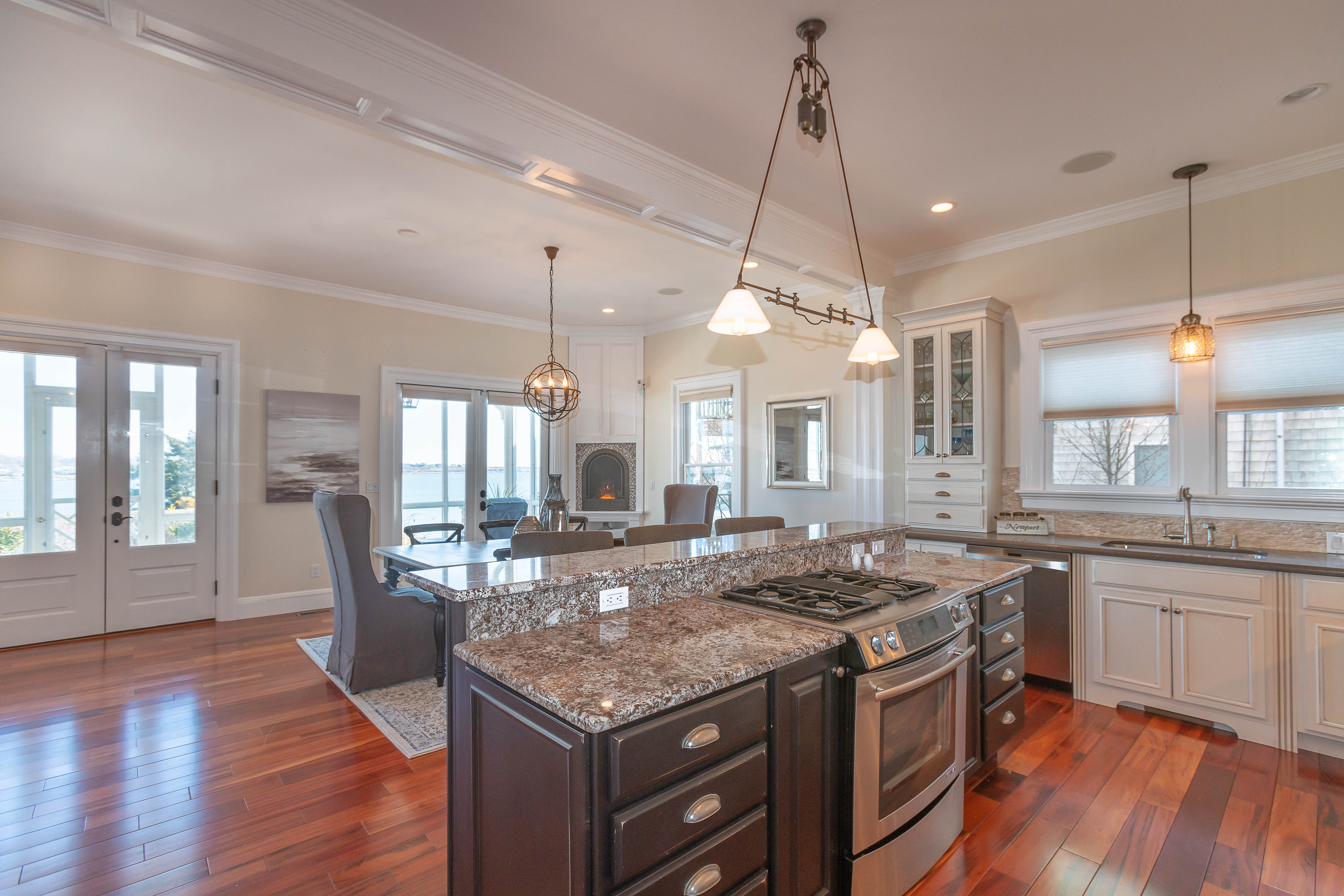 THE HOME has a modern kitchen and is an open concept design. / COURTESY MOTT & CHACE SOTHEBY'S INTERNATIONAL REALTY