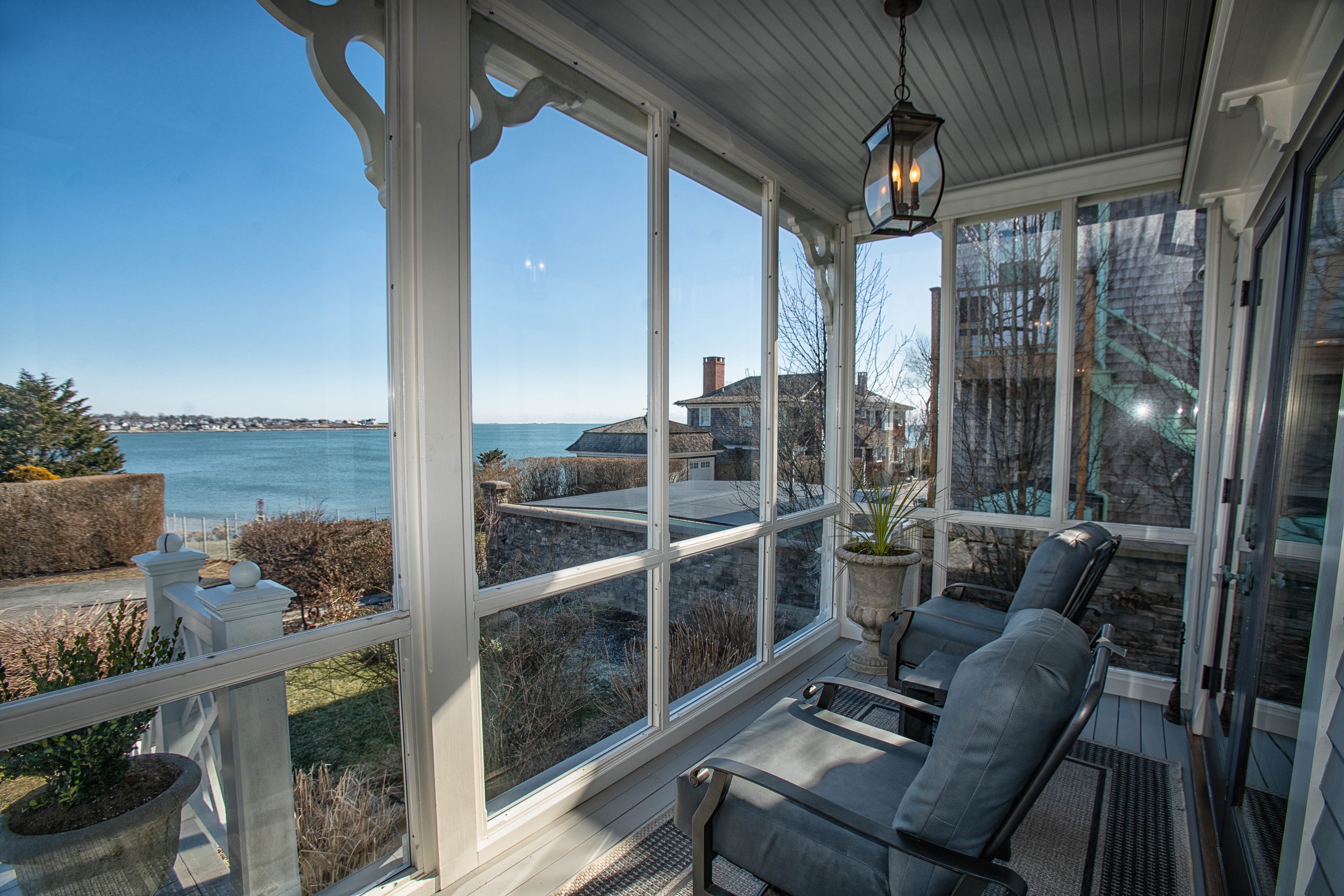THE PROPERTY FEATURES views of the Atlantic Ocean. / COURTESY MOTT & CHACE SOTHEBY'S INTERNATIONAL REALTY