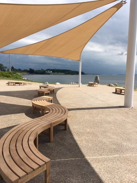A SHADE PAVILLION at Grinnell's Beach in Tiverton, part of a $393,000 recreation grant-funded renovation, previously awarded by DEM. / COURTESY R.I. DEPARTMENT OF ENVIRONMENTAL MANAGEMENT