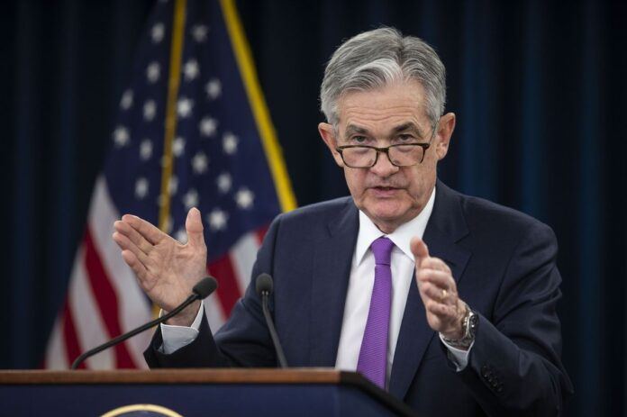 THE FEDERAL OPEN MARKET COMMITTEE, led by Federal Reserve Chairman Jerome Powell, decided to drop the main interest rate one-quarter of a point Wednesday. / BLOOMBERG NEWS FILE PHOTO/AL DRAGO
