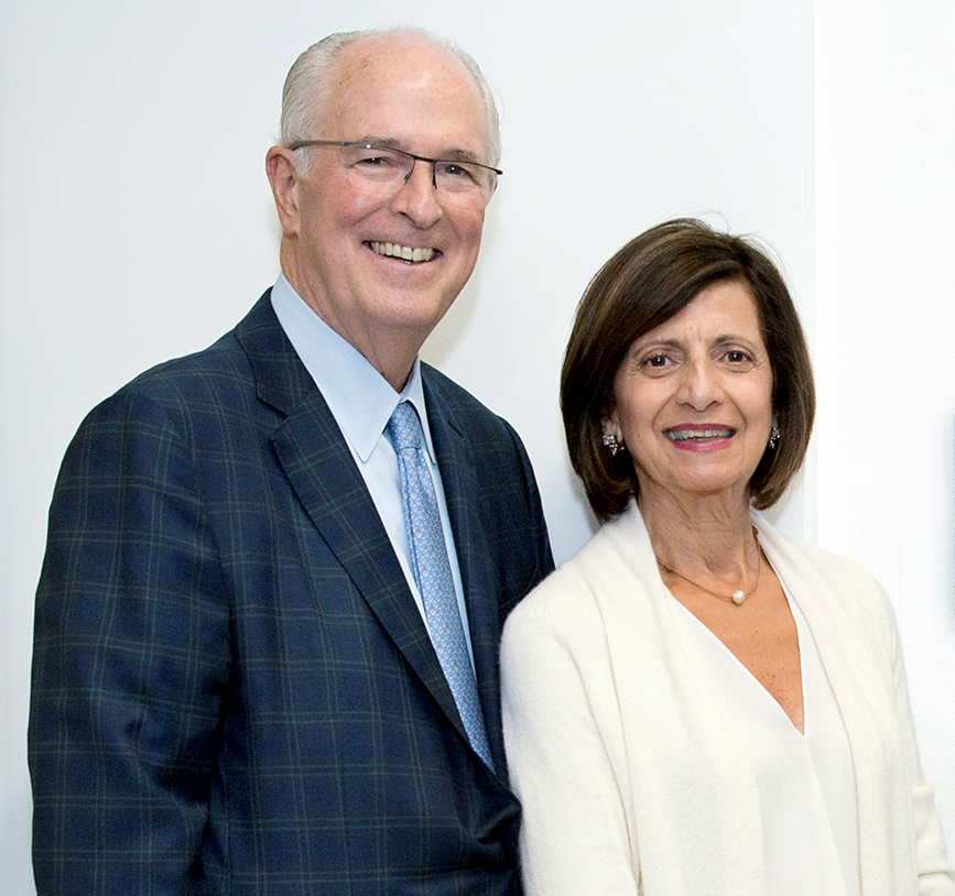 RICHARD J. HARRINGTON and Jean Harrington have pledged an additional $4 million to the Harrington School of Communication and Media at URI to support renovations. / COURTESY UNIVERSITY OF RHODE ISLAND