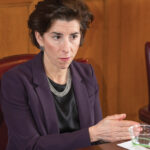 GOV. GINA M. RAIMONDO sharply criticized the Small Business Development Fund, an investment program created by the General Assembly in 2019. / PBN FILE PHOTO/DAVE HANSEN