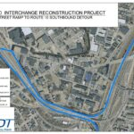 A MAP of a proposed detour for motorists that typically use the Westminster Street on-ramp to Route 10 South from the east. / COURTESY R.I. DEPARTMENT OF TRANSPORTATION