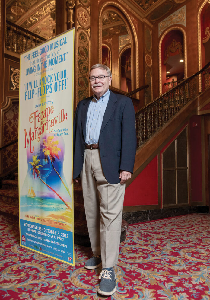 In 1983, Lynn Singleton was named president of the Providence Performing Arts Center and successfully reversed the then-struggling theater's financial fortunes. Attendance at PPAC has increased from 57,000 that first year to nearly 500,000 this year. During his tenure, he and PPAC have received widespread recognition, including several Tony Awards for production. / PBN PHOTO/MICHAEL SALERNO