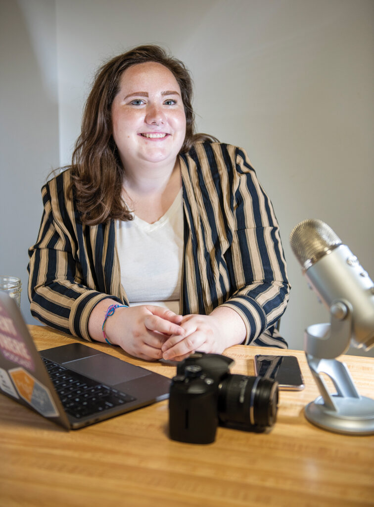ATTENTION-GETTER: Nikki Vergakes has launched Cultivated Content, a service that will manage social media accounts on behalf of businesses.  / PBN PHOTO/DAVE HANSEN