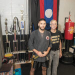 STANDING READY: STANDING READY: United Community Martial Arts owner Thomas M. Evans, left, with his father, Thomas D. Evans. / PBN PHOTO/MICHAEL SALERNO