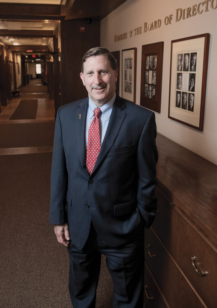 After a long career as a banking executive and four years at Brown University as chief development officer, Neil D. Steinberg joined the Rhode Island Foundation in 2008. He has served as CEO and president of the public charity ever since, leading a host of initiatives in education and health affecting communities across the state.  / PBN PHOTO/MICHAEL SALERNO