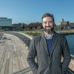 BRIDGE BUZZ: Bryan Lavin, an assistant professor at Johnson & Wales University's College of Hospitality Management, says the pedestrian bridge in Providence has been generating positive reviews in the tourism space. / BN PHOTO/MICHAEL SALERNO