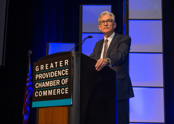 JEROME POWELL was the keynote speaker at the Greater Providence Chamber of Commerce's annual meeting Monday night. / COURTESY CONSTANCE BROWN PHOTOGRAPH