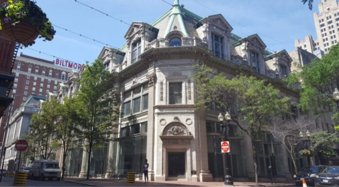 A PROJECT two convert two vacant building in downtown Providence into a hotel and microlofts is on hold after failure to obtain a tax stabilization agreement with the city. / COURTESY ABDO DEVELOPMENT