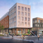 A PROPOSED mixed-use building on Parcel 6 in the I-195 Redevelopment District in Providence will include space for apartments over a grocery store. / COURTESY I-195 REDEVELOPMENT DISTRICT COMMISSION