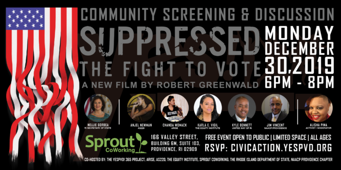 #YESPVD!, the Youth Empowerment Summit, will co-host a documentary screening and panel discussion on voter suppression in Providence on Monday.