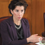 COLLISION COURSE: Gov. Gina M. Raimondo plans to again introduce a recreational marijuana proposal, in her fiscal 2021 budget plan, despite warnings from House and Senate leaders that they won't consider it. / PBN FILE PHOTO/DAVE HANSEN