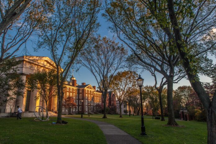 BROWN UNIVERSITY is projected to bring in $2.5 million in revenue from declined applications, according to a study Wednesday by LendEdu. / COURTESY BROWN UNIVERSITY