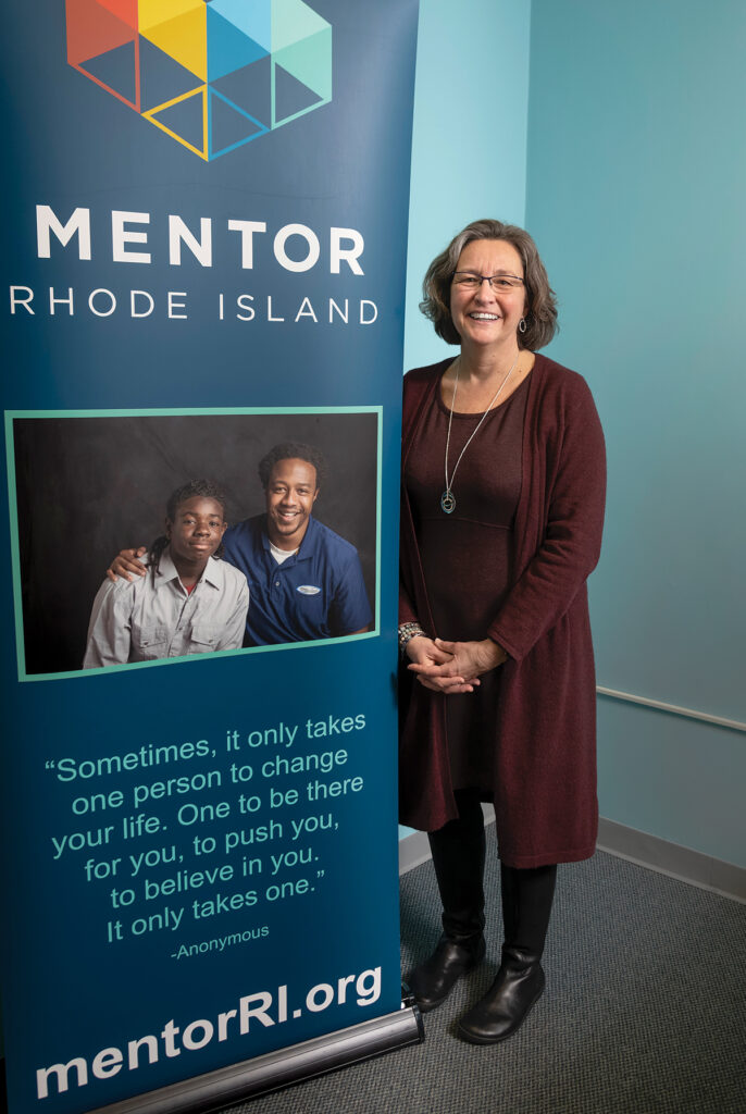 Jo-Ann Schofield has been on Mentor Rhode Island's staff for 22 years, starting as the program assistant to the Warwick Mentor Program. She has led the organization since 2013. The nonprofit is the statewide resource for youth and corporate mentoring and has formed a network of over 60 programs. / PBN PHOTO/MICHAEL SALERNO