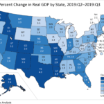 GDP in Rhode Island increased at a 1.6% annualized rate in the third quarter. / COURTESY BUREAU OF ECONOMIC ANALYSIS